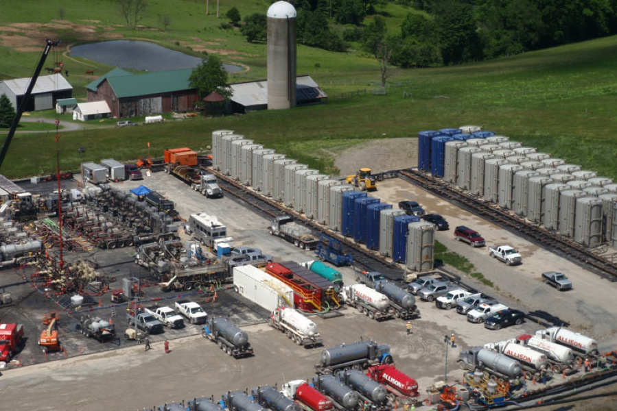 Figure 3: Typical frac operation on location