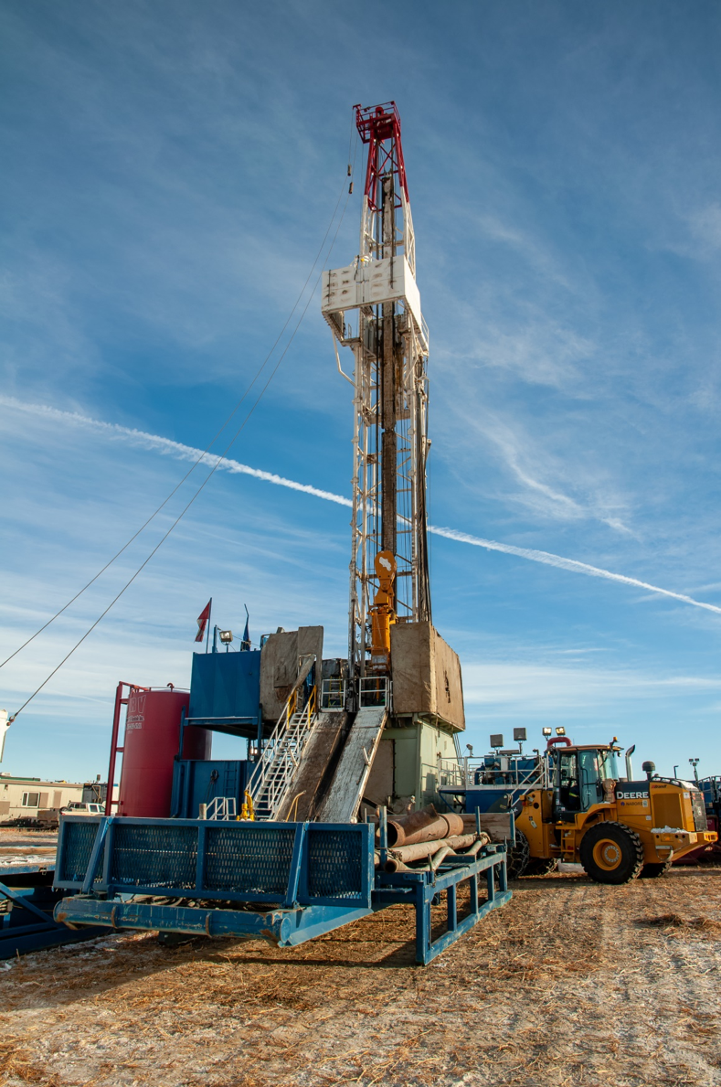 Figure 2: A drilling rig. A lot more cost-effective than New Zealand!